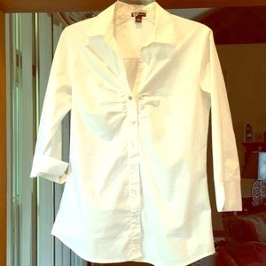 Women's white button down shirt